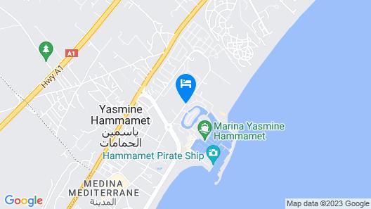 Houda Yasmine Marina & SPA Map