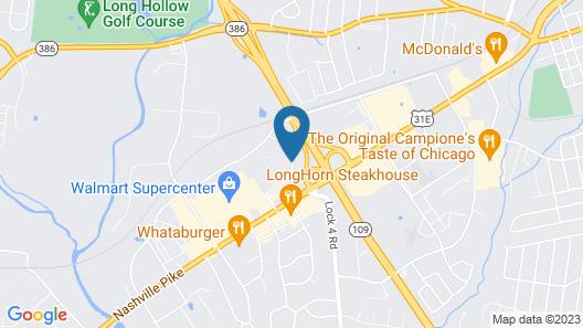 Hampton Inn Gallatin Map
