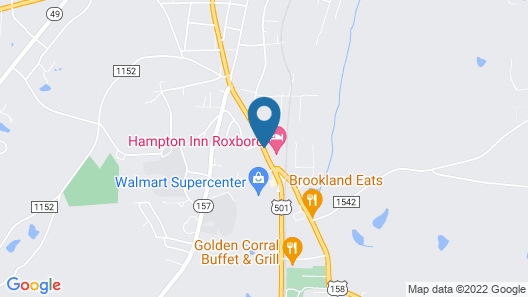 Hampton Inn Roxboro Map