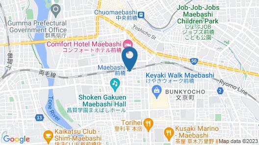 Toyoko Inn Maebashi Ekimae Map