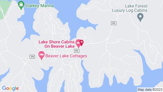 Lake Shore Cabins on Beaver Lake Map