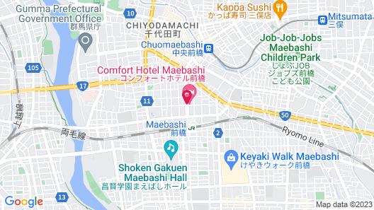 Comfort Hotel Maebashi Map