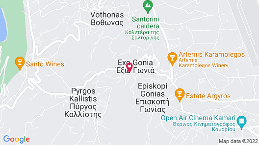 Traditional Santorini Cavern House Anthea Map
