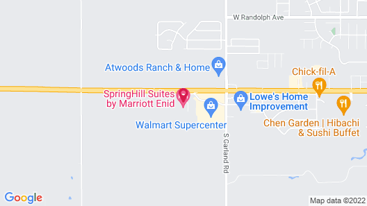 SpringHill Suites by Marriott Enid Map