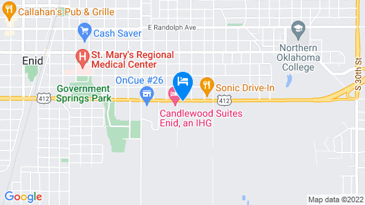 Candlewood Suites Enid, an IHG Hotel Map