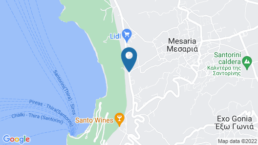 Volcano View Hotel Santorini Map