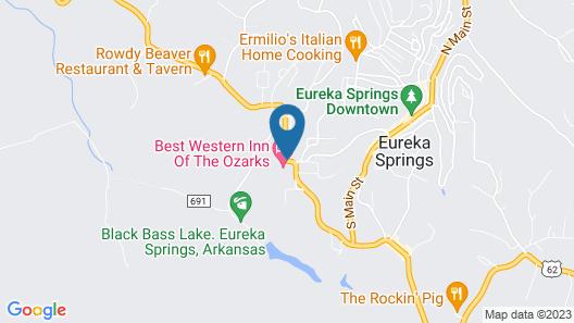 Best Western Inn of the Ozarks Map