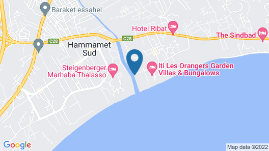 The Orangers Beach Resort and Bungalows - All Inclusive Map