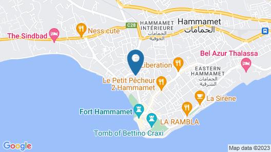 Residence Hammamet Map