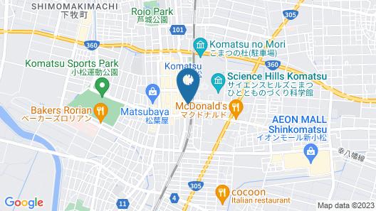 Hotel Granbinario Komatsu Map