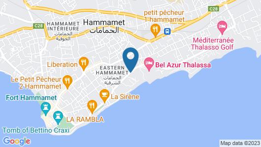 Hotel Sol Azur Beach Map