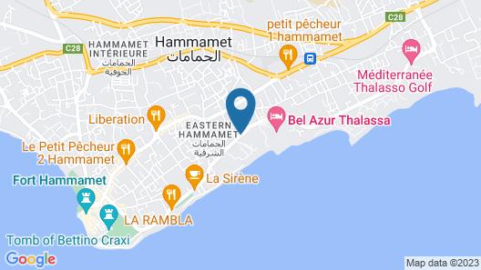 Sol Azur Beach & Congres Map