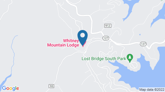 Whitney Mountain Lodge Map