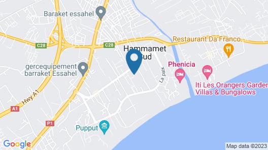 Hammamet Garden Resort and Spa Map