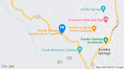 Eureka Springs Treehouses, Hobbit Caves & Castles Map