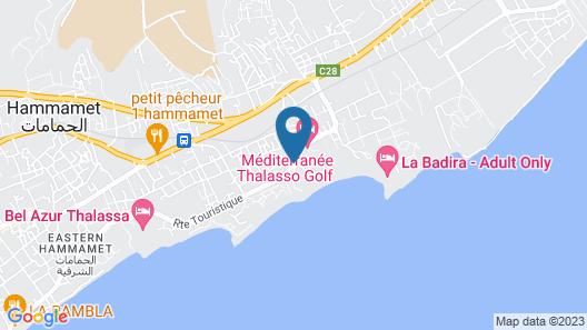 HOTEL AZIZA THALASSO GOLF Map