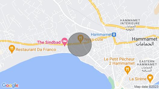 Good Apartment in Hammamet Map