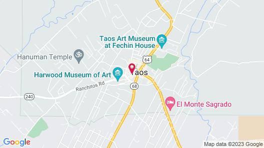 Hotel La Fonda Taos Map