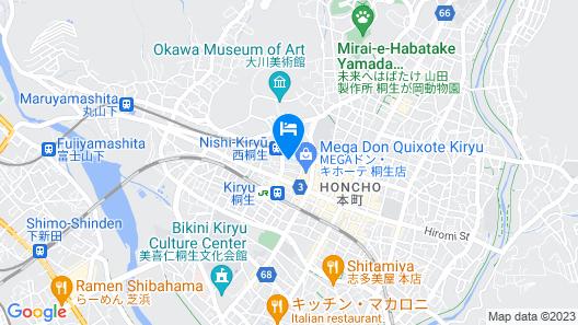 Business Hotel Nishikiryu Map