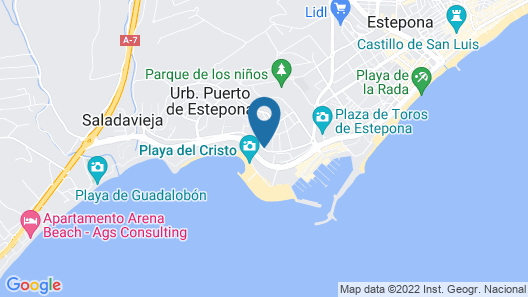 CP1-2 bedroom front line beach Cristo Playa RoomService Map