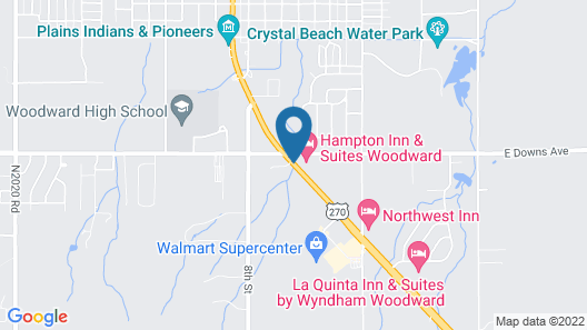 Hampton Inn & Suites Woodward Map