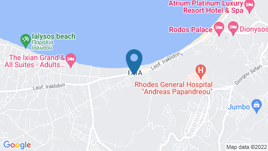 Oceanis Park Hotel - All Inclusive Map
