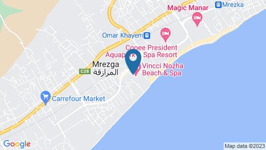 Vincci Nozha Beach and Spa Map