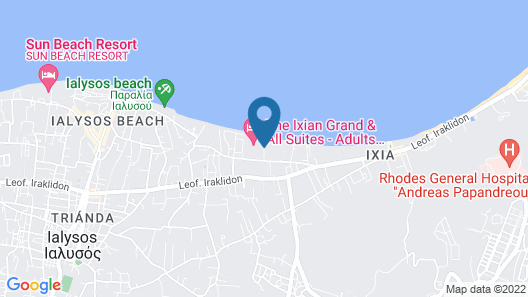 The Ixian Grand - Adults Only Hotel Map