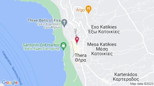 Chic Hotel Santorini Map