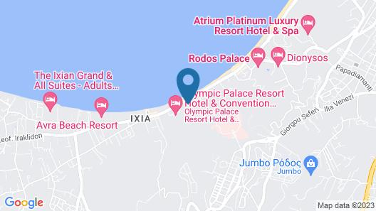 Rhodes Bay Hotel & Spa Map