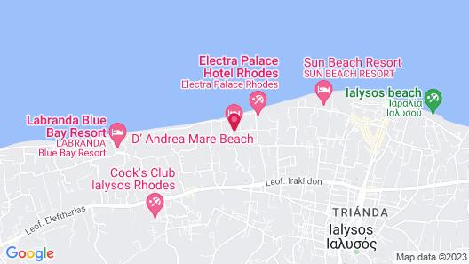 D'Andrea Mare Beach Hotel – All Inclusive Map