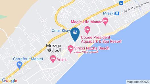 Hotel Dar Khayam Map