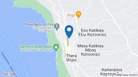 Fira Downtown Map