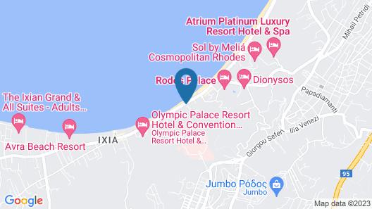Sheraton Rhodes Resort Map