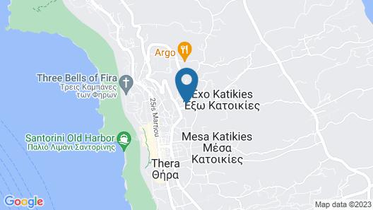 Evgenia Villas & Suites Map
