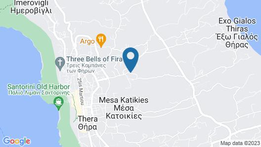 Milos Villas Hotel Map