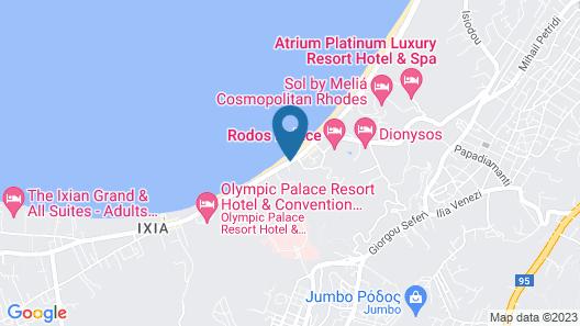 Belair Beach Hotel Map