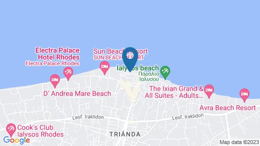 Sunshine Rhodes - All Inclusive Map