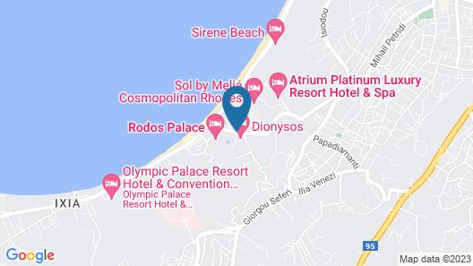 Dionysos Hotel Map