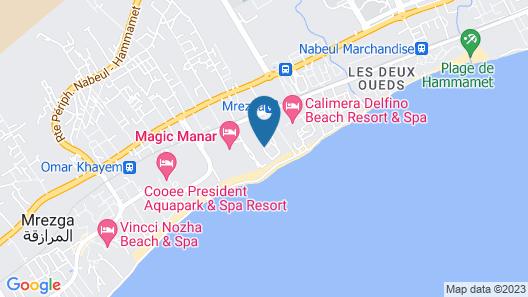 Hammamet Beach Club - All Inclusive Map