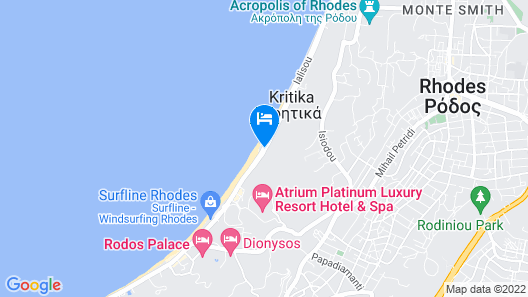 Sirene Beach Hotel - All Inclusive Map