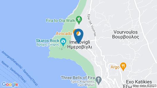 La Maltese Estate, Buddha-Bar Beach Santorini Map
