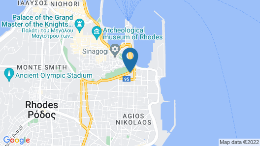 Athineon Hotel Map