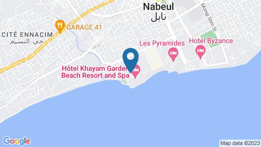 Khayam Garden Beach Resort & Spa Map