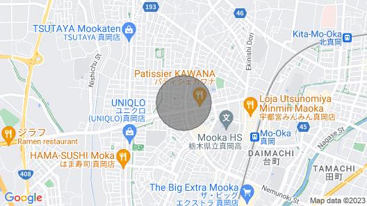 Nonsmoking Twin Room Maximum 2 People With lig / Mooka Tochigi Map