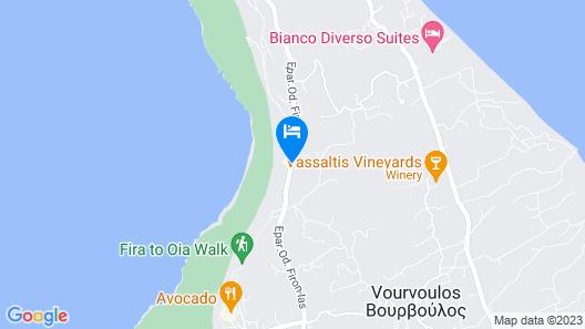 Rocabella Santorini Hotel Map