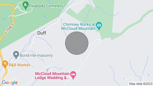 Mccloud Mtn Peak Cabin w/ Deck & Panoramic Views! Map