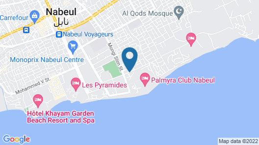 Appartement Nabeul Plage Map