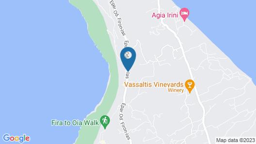 Cavo Tagoo Santorini Map