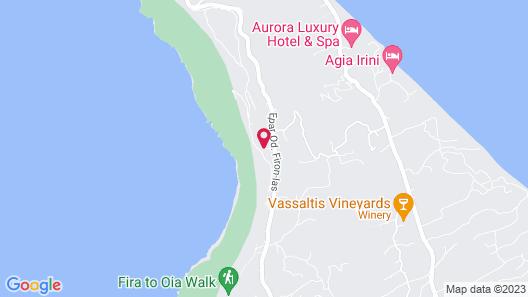 Santorini Princess Luxury Spa Hotel Map